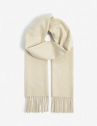 Johnstons Fringed personalised cashmere scarf