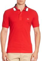 Lacoste Jacquard Colorblocked Polo