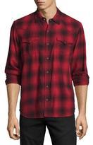 True Religion Western Plaid Long-Sleeve Shirt