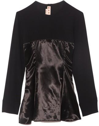 Marni Long Sleeve Blouse in Black