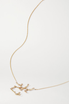 Sebastian Celestial Sagittarius 10-karat Gold Diamond Necklace