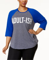 Soffe Plus Size Graphic Baseball Top