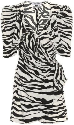 ATTICO Pat zebra-print wrap minidress