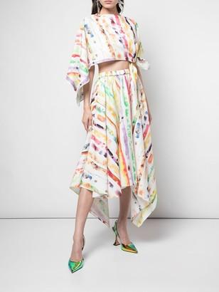 Rosie Assoulin Trangle Dress Multicolor