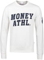 Money Ecru Athletic Crew Neck Sweatshirt