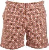 Orlebar Brown Shorts, Orange Geometric 'Bulldog' Swimshorts