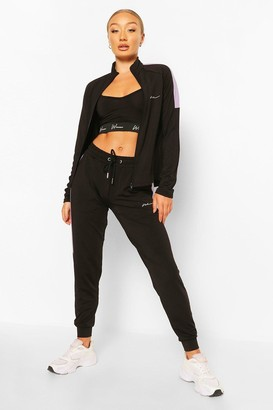 boohoo Active Skinny Fit Jogger with Side Panel
