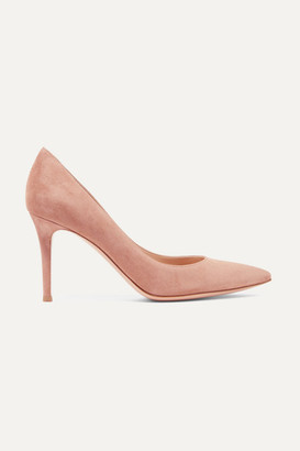 Gianvito Rossi 85 Suede Pumps - Neutral