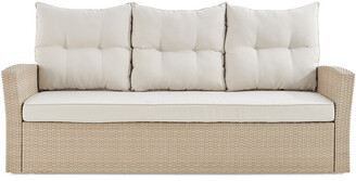 Alaterre Canaan All-Weather Wicker 70In Outdoor Sofa With Cushions