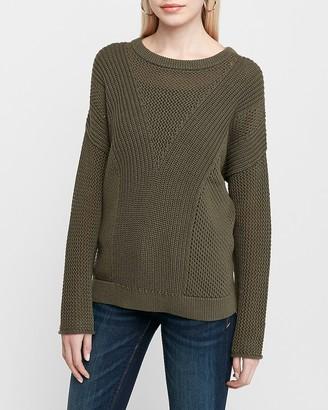 Express Mixed Stitch Tunic Sweater