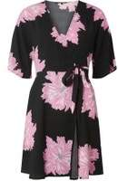 Dorothy Perkins Womens **Vero Moda Black Printed Wrap Dress