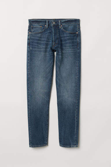 Slim Straight Jeans - Blue