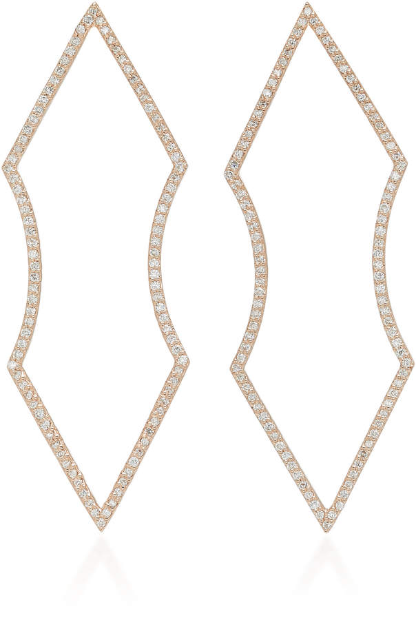Adina Ilana Ariel 14K Gold Diamond Earrings