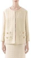 Gucci Houndstooth Tweed Wool Blend Jacket