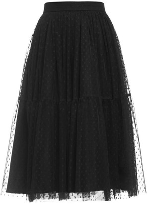 Cliché Reborn Tulle Tired Midi Skirt In Black