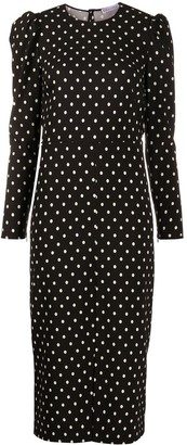 RED Valentino Polka Dotted Long-Sleeved Dress
