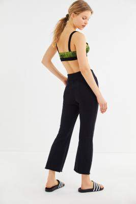 Out From Under Finley Pintuck Cropped Flare Pants - black M at Urban Outfitters