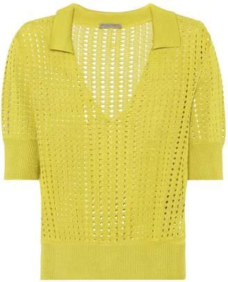 Bottega Veneta Knitted silk top