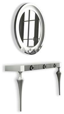 Everly Quinn Koski Console Table and Mirror Set