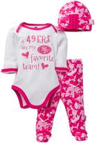 Gerber San Francisco 49ers Pink Footie Pants Set - Infant