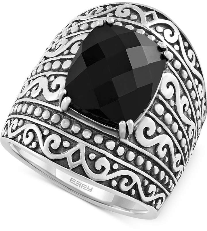 Effy Onyx Statement Ring (4 ct. t.w.) in Sterling Silver
