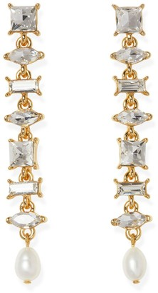 Vince Camuto Mixed-jewel Linear Earrings