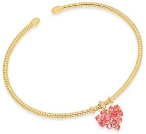 Eliot Danori Crystal Heart Flexi Cuff Bangle Bracelet, Created for Macy's