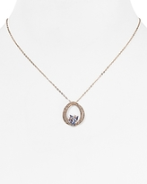 Nadri Posy Circle Pendant Necklace, 16