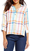 Westbound Petites Two Pocket Boxy Popover Top
