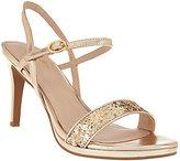 Seychelles Metallic & Glitter Evening Sandals- Sweet as Honey