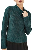Topshop Women's Turn Back Cuff Sweater