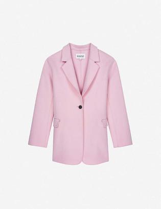 Claudie Pierlot Single-breasted wool-blend blazer
