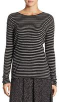 Vince Double Stripe Crewneck Sweater