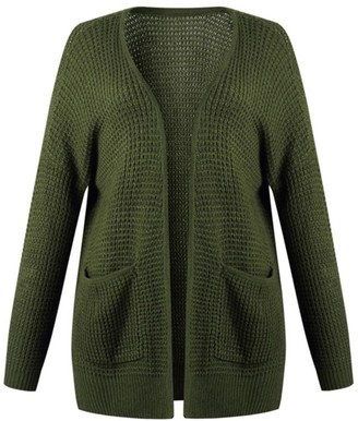 Goodnight Macaroon 'Kendall'' Waffle Knit Open Cardigan with Pockets (4 Colors)