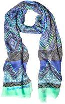 Matthew Williamson Andean Artisan Blue Modal Cashmere Scarf