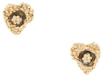 Christian Lacroix Pre-Owned Textured Heart-Shaped Earrings