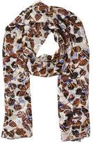 Derek Lam Silk Floral Print Scarf