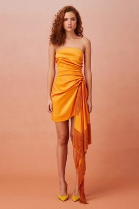 Keepsake UNTIED MINI DRESS orange