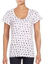 Lord & Taylor Petite Polka Dot Cotton T-Shirt