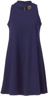 Taylor Dresses Women's Stretch Crepe Swing Dress with Open Neck