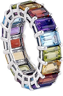 Samuel B. Silver 10.26 Ct. Tw. Gemstone Ring