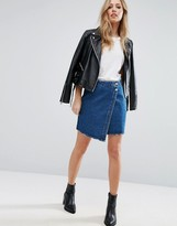 Denim Wrap Skirt - ShopStyle