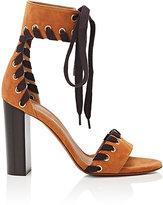 Chloé Women's Miles Suede Ankle-Tie Sandals
