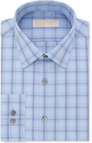 MICHAEL Michael Kors Men's Slim-Fit Non-Iron Cotton Gray Check Dress Shirt