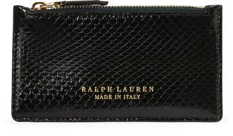 Ralph Lauren Ayers Snakeskin Card Case