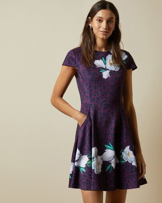 Ted Baker TOHKOH Wilderness short sleeved skater dress