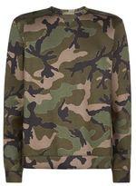 Valentino Camouflage Print Neoprene Sweatshirt