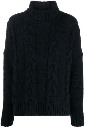 Societe Anonyme Cable-Knit Roll Neck Jumper