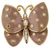 Judith Leiber Crystal Butterfly Brooch
