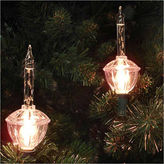 Asstd National Brand Set Of 7 Clear Retro Christmas Bubble Lights withGreen Wire